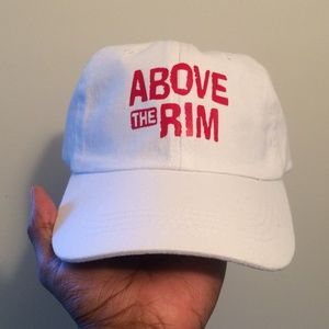 Above The Rim White Dad Hat